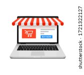 online shop ecommerce store... | Shutterstock .eps vector #1721322127