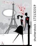 romantic date.  pair of lovers... | Shutterstock .eps vector #172132319