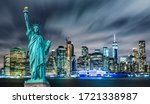 Manhattan Panoramic Skyline At...