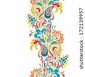 seamless paisley vector pattern | Shutterstock .eps vector #172139957