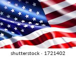 american flag graphic | Shutterstock . vector #1721402