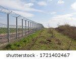 Border fence between rastina ...