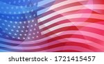 usa independence day abstract... | Shutterstock .eps vector #1721415457