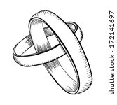 wedding rings doodle | Shutterstock .eps vector #172141697