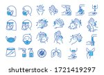 Set Of Hand Washing Icons In...