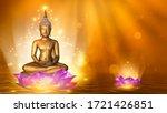Buddha Statue Water Lotus...