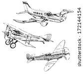Propeller Airplanes Drawings O...