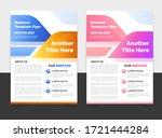 brochure design template flyer...   Shutterstock .eps vector #1721444284
