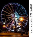 ferris wheel at night in a... | Shutterstock . vector #172144709