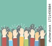 group of human hands clapping.... | Shutterstock .eps vector #1721450884