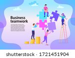 group of business people... | Shutterstock .eps vector #1721451904
