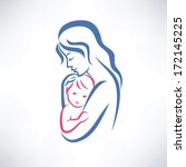 mother and son vector symbol | Shutterstock .eps vector #172145225