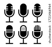 microphone vector icon set...