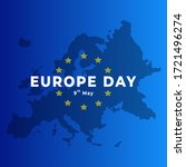 europe day 9th may. europe map... | Shutterstock .eps vector #1721496274
