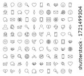 contact line icon set.... | Shutterstock .eps vector #1721499304