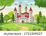 Castle In The Forest. Hand...