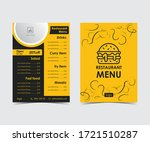 two pages modern restaurant... | Shutterstock .eps vector #1721510287