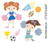 american,athlete,ball,basketball,cheer,cheerleader,cheerleading,finger,foam,football,fun,girl,illustration,isolated,jump