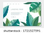 landing page template with... | Shutterstock .eps vector #1721527591