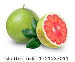 Pomelo Isolated On White...