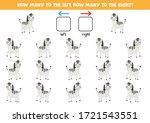 how many zebras go to the left... | Shutterstock .eps vector #1721543551