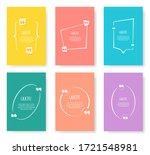 colored quote speech bubble...   Shutterstock .eps vector #1721548981