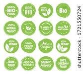 organic food labels. fresh eco... | Shutterstock .eps vector #1721550724