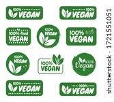 vegan icon set. bio  ecology ... | Shutterstock .eps vector #1721551051