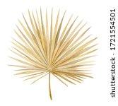 Watercolor Golden Dried Fan...
