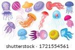 Jellyfish Vector Cartoon Icon....
