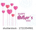happy mothers day card with... | Shutterstock .eps vector #1721554981