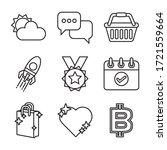 bundle of miscellaneous set...   Shutterstock .eps vector #1721559664