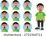 set of regular man's facial... | Shutterstock .eps vector #1721560711