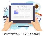 News Reading Online Or Digital...