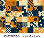 geometric distress aesthetics... | Shutterstock .eps vector #1721573137