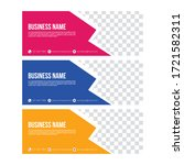 amazing social media cover sets | Shutterstock .eps vector #1721582311