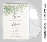 elegant wedding invitation card ... | Shutterstock .eps vector #1721595961