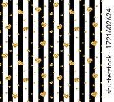 gold heart seamless pattern.... | Shutterstock . vector #1721602624
