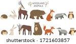 woodland animals. set of cute... | Shutterstock .eps vector #1721603857