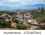 View over the town and harbour in Rijeka in Croatia