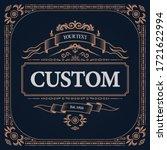 retro vintage design label...   Shutterstock .eps vector #1721622994