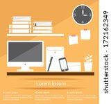 interior office room vector... | Shutterstock .eps vector #172162349