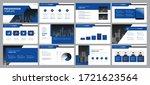 business presentation...   Shutterstock .eps vector #1721623564