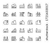 industrial factory building 25... | Shutterstock .eps vector #1721633017