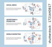 social media  adverting and... | Shutterstock .eps vector #1721640817