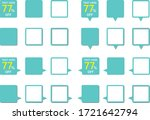 a simple set of square icons... | Shutterstock .eps vector #1721642794
