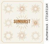 set of sun burst vintage lines... | Shutterstock .eps vector #1721651164