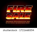 vector bright sign fire sale... | Shutterstock .eps vector #1721668354