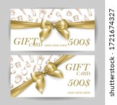 set of luxury gift cards with a ... | Shutterstock .eps vector #1721674327