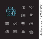melody icons set. music folder...